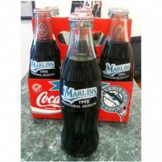 1993 Florida Marlins Inaugural Year Coke Bottles, 6-pk